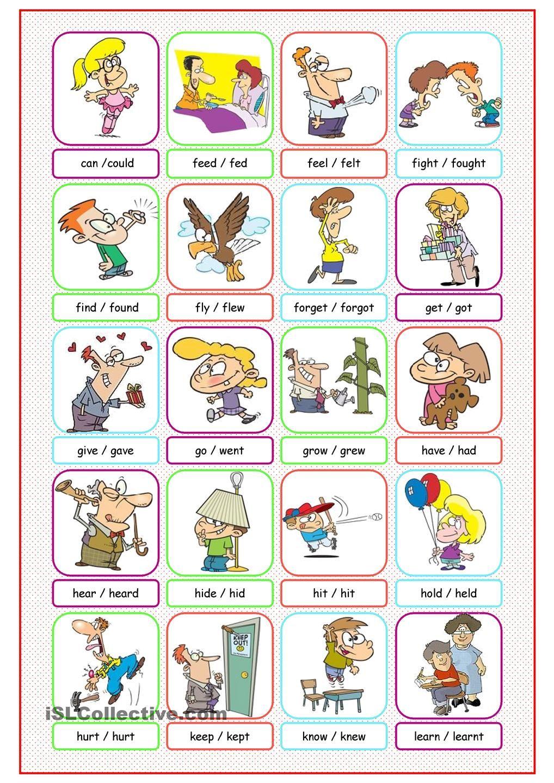 Irregular Verbs Picture Dictionary 1 Verbos Para Niños Verbos Irregulares Vocabulario En Ingles