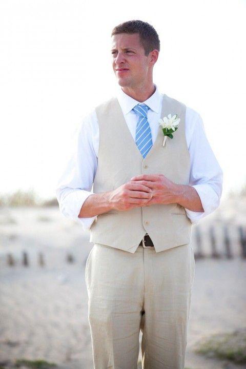 61 Stylish Beach Wedding Groom Attire Ideas