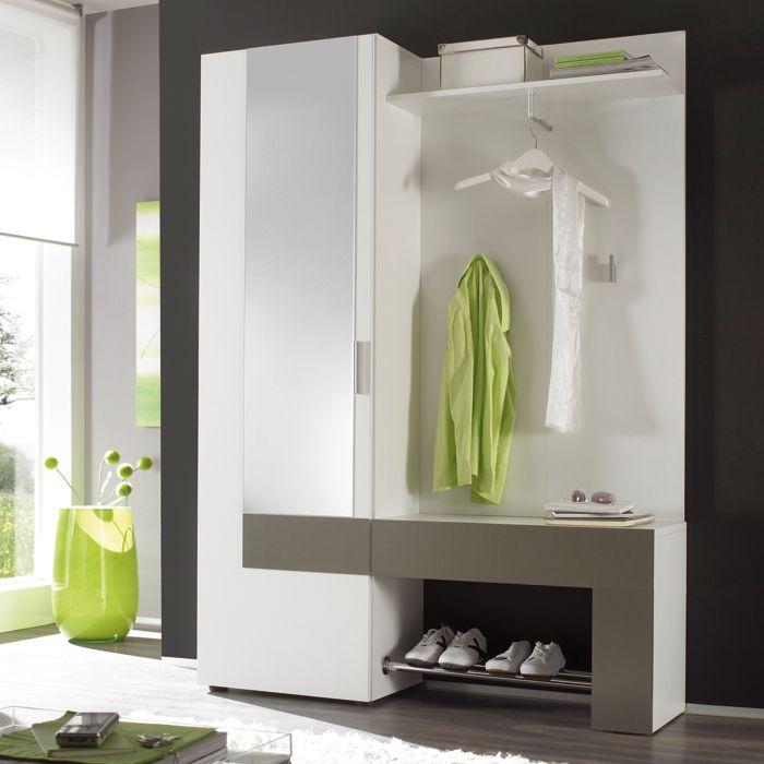 Inspirational Garderobe BACKBEAT kompakt und modern Der Korpus ist Weiss mit einer auffallenden Absetzung in