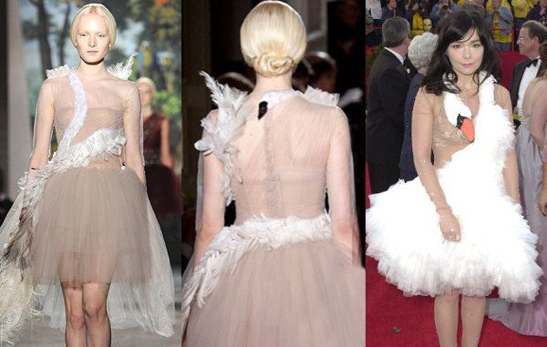 Valentino Reimagines Björk's Infamous Swan Dress. Who's Laughing Now? | Fashion - Yahoo Shine