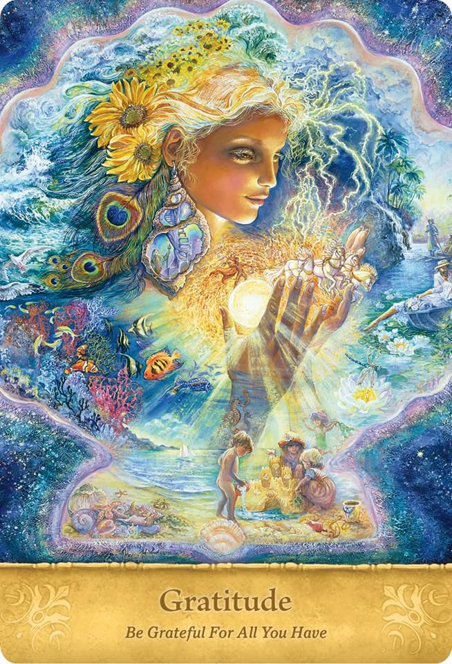 Fantasy Art Card/'Fantasy in Blue/' by Josephine Wall Art that Inspires the Soul