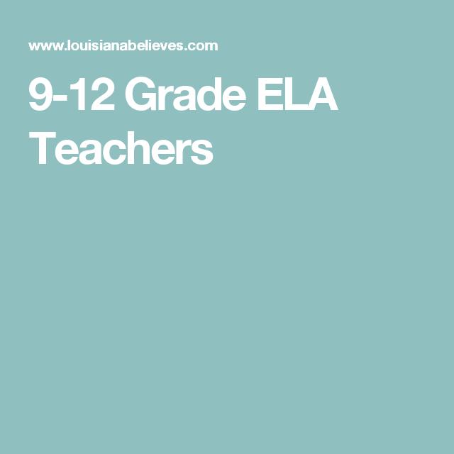 9-12 Grade ELA Teachers