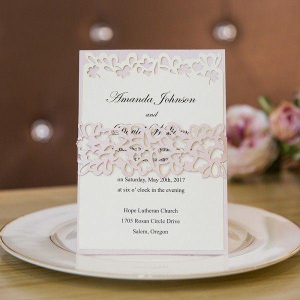 Shop Your Unique Wedding Invitations Online Belly bands Laser cut