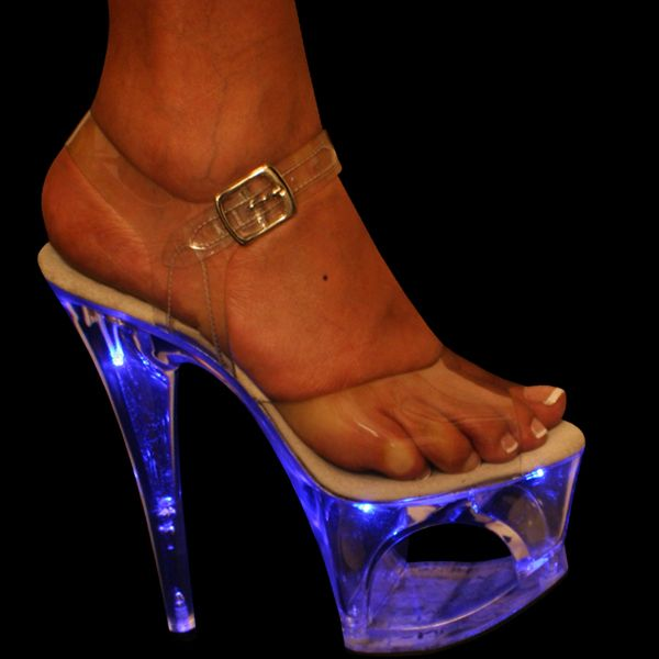 Light up stripper shoes