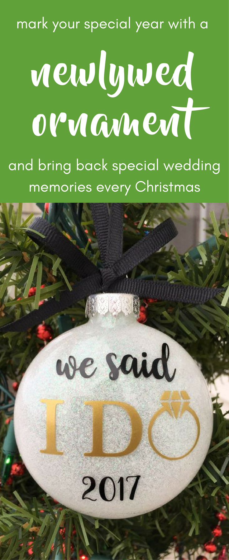 Our First Christmas Ornament, Just Married Ornament, Wedding ...