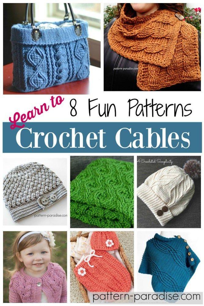 Friday Finds – Crochet Cables | croche | Pinterest | Tejido, Gorro ...