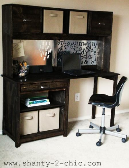 Simple Channing Desk Hutch Built By Shanty To Chic Free Plans To