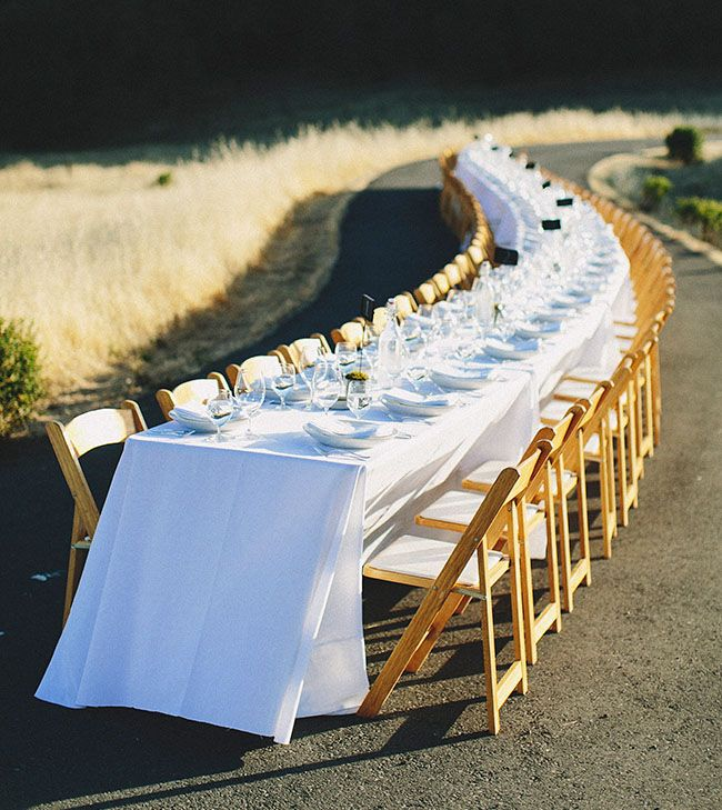 Wedding Reception On A Country Road Simple And Beautiful