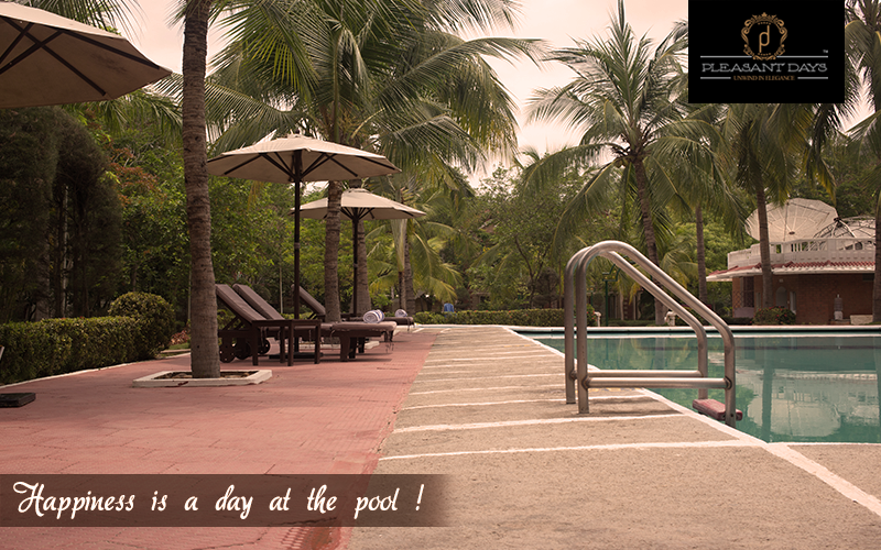 Beat the Summer heat , take a dip in the pool amidst the lush greenery at Pleasant Days  #PleasantDays #Hotels #Food #Resort #India #Travel #Holiday #Restaurant