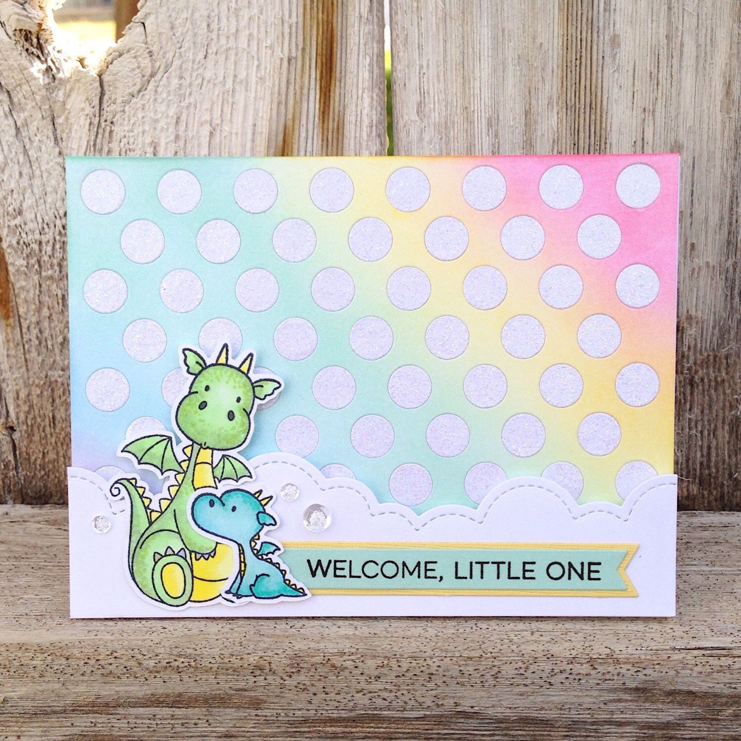 Little One / New Baby Handmade Greeting Card / New