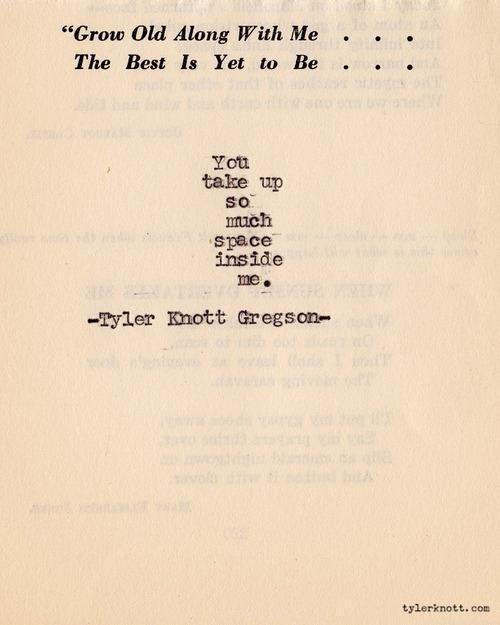 so much space | inside me | tyler knott gregson