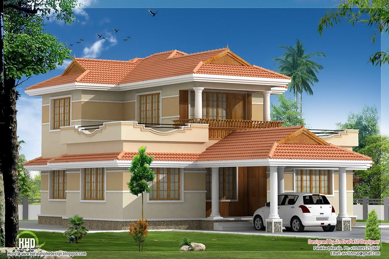 Kerala Vill Design Jpg 1280 853 House Balcony Design Kerala House Design Kerala Houses