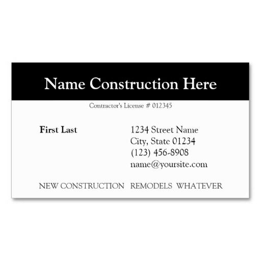 Bob Business Card Zazzle Com Construction Business Cards Business Card Template Customizable Business Cards