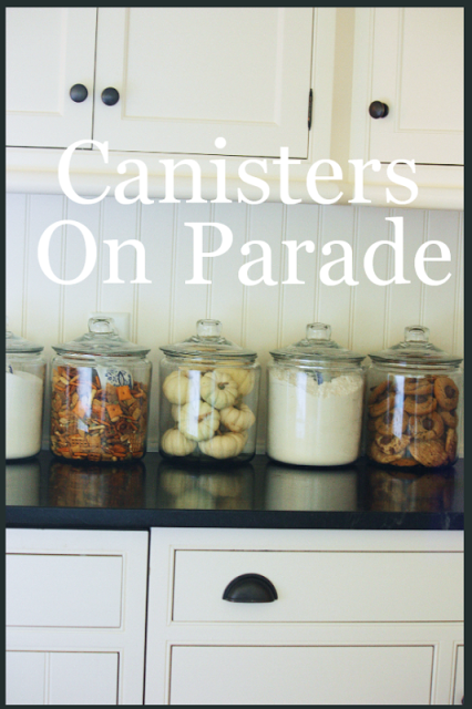 Canisters On Parade House Staging Kitchen Jars Kitchen