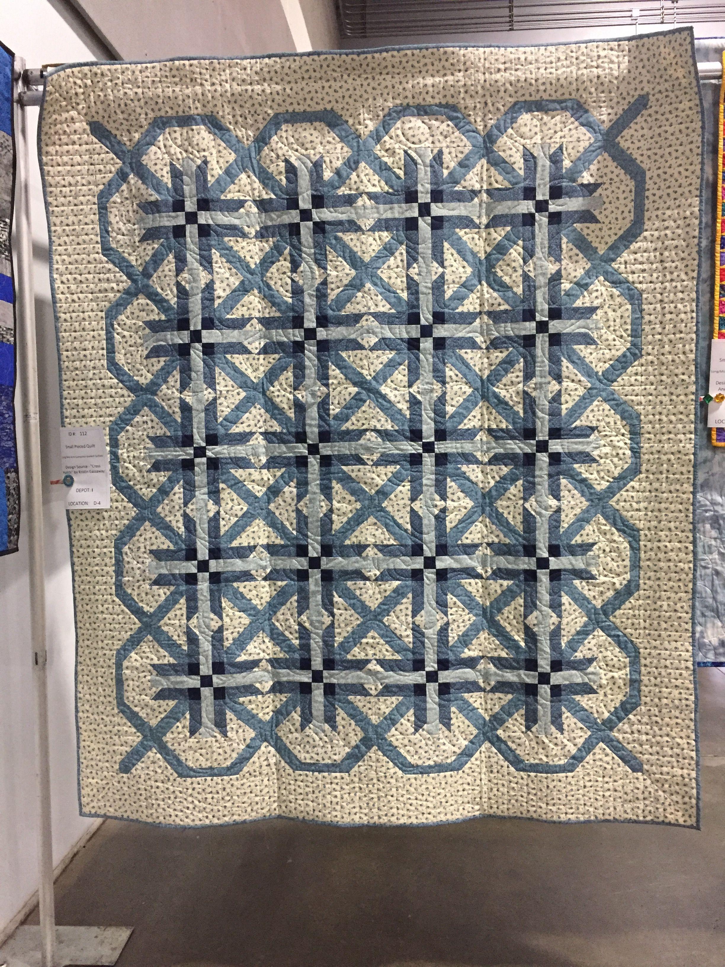 I slightly modified Kristin Gassaway's quilt pattern