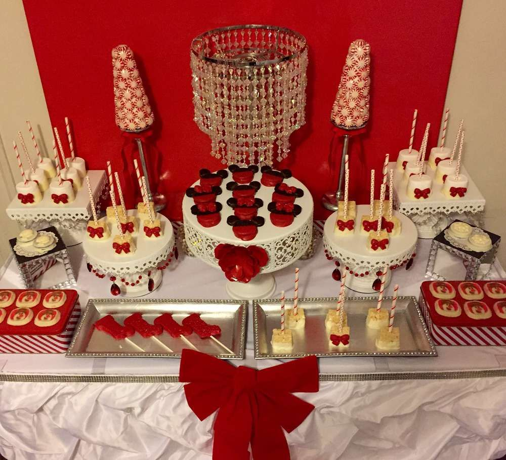 Planning Christmas Party: Red And White Christmas Decor Party Ideas