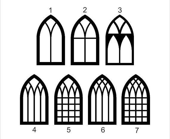 Cathedral Window Window Window Cut Out Window Frame