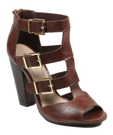 a0416169b513 Another great find on  zulily! Brown Buckle Mash Sandal  zulilyfinds ...