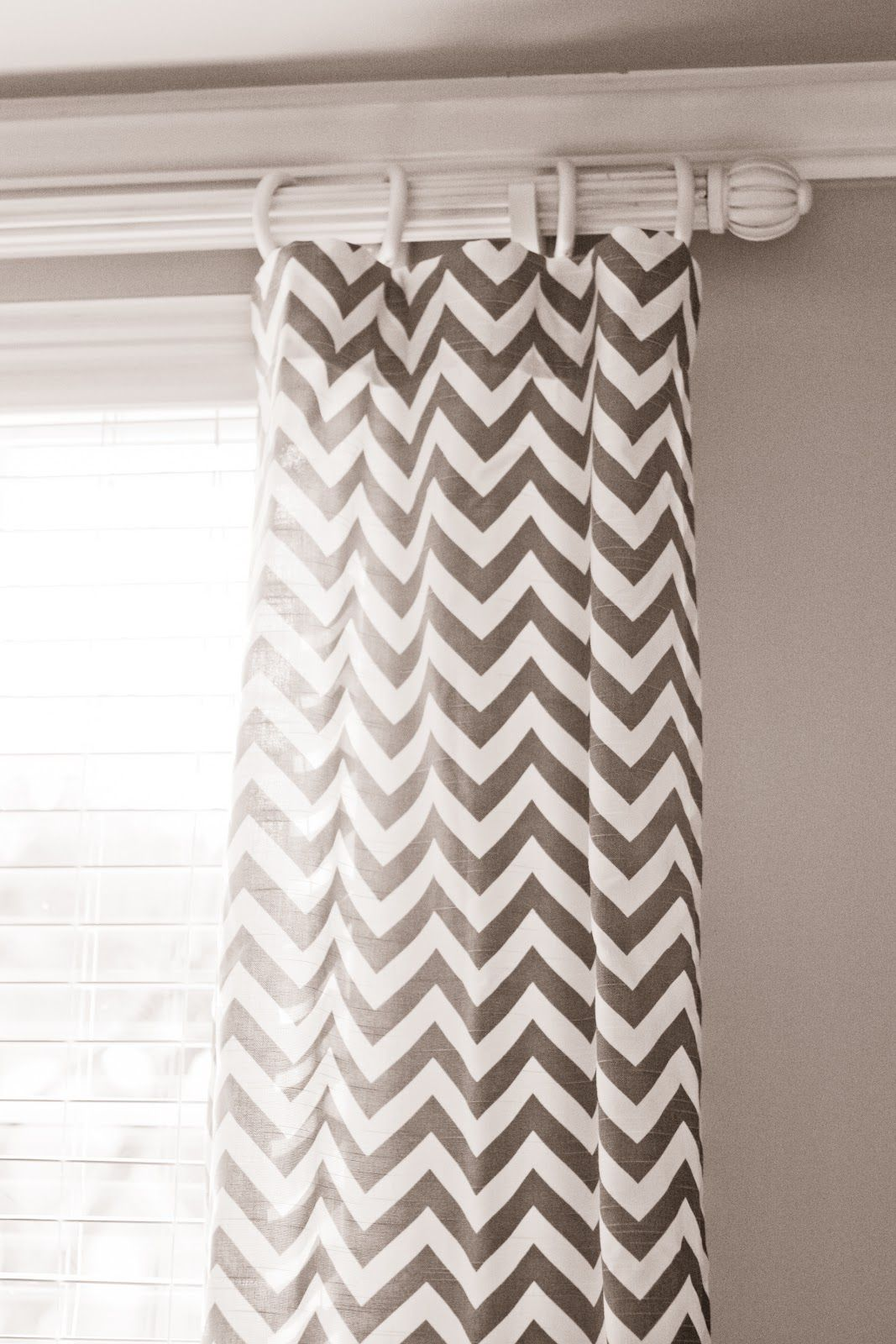Weiße Gardinenstange Grey Chevron Curtains I Love My House But I Can
