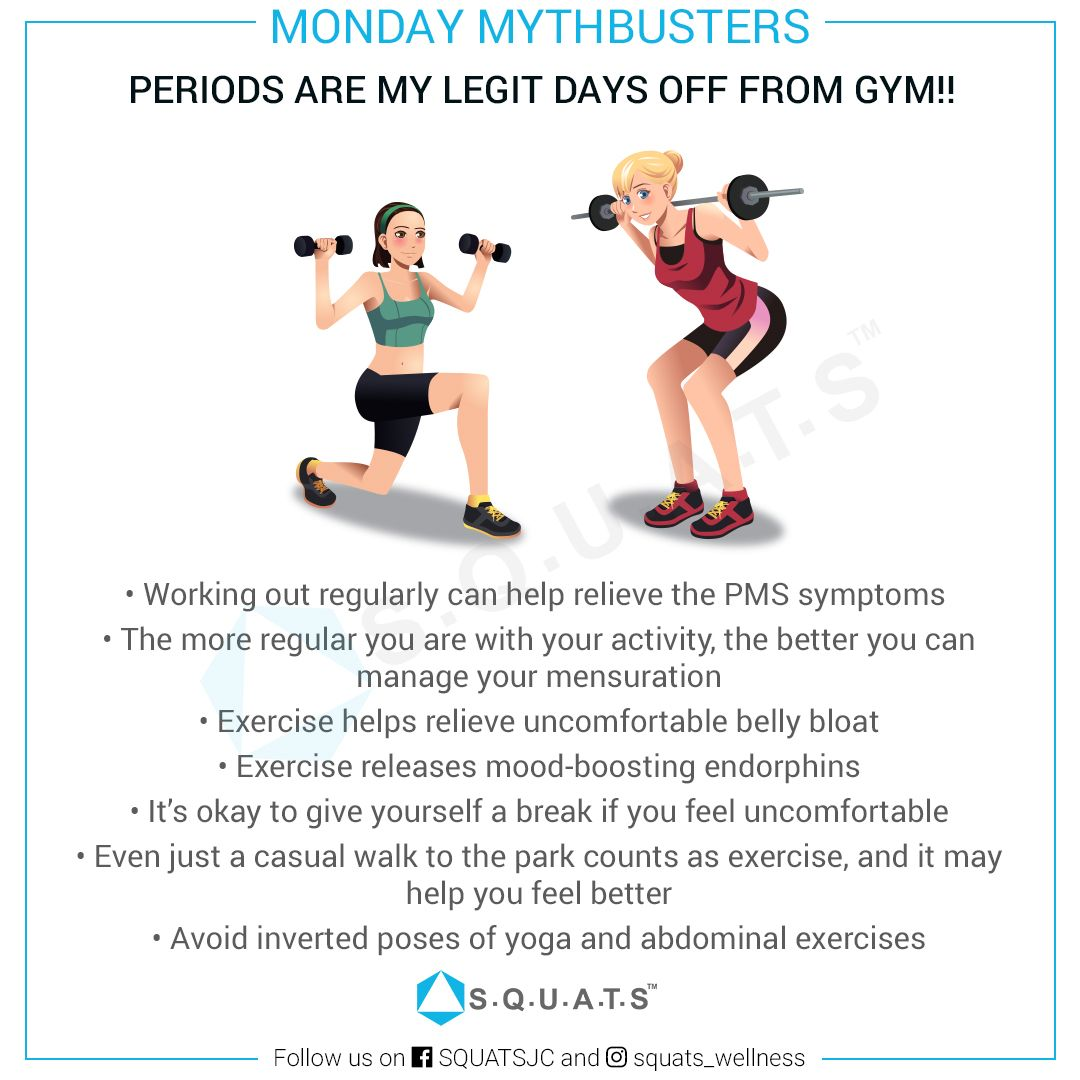 Do you feel like staying away from workouts during your