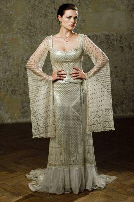 Katie McGrath as Morgana Pendragon, BBC Merlin, white dress