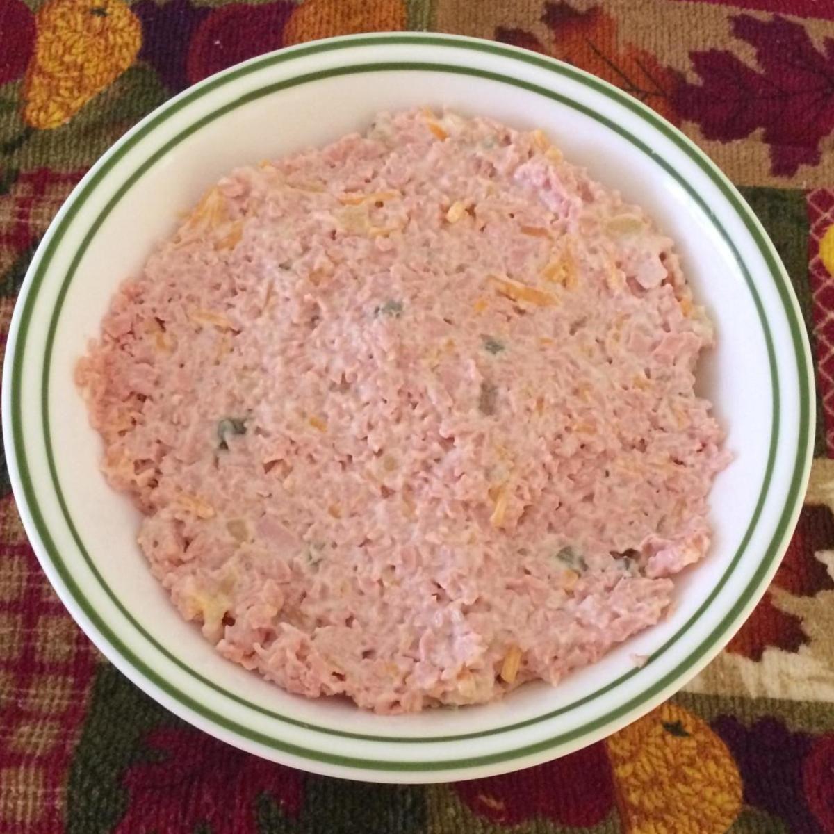 Fake Ham Salad Southwestern Pennsylvania Style