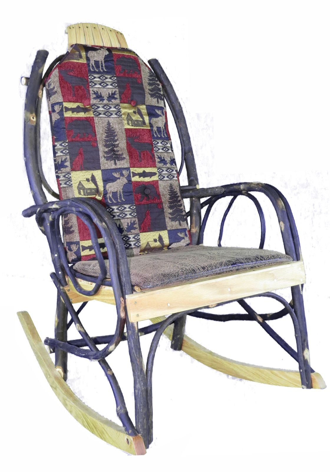 Amish Rocking Chair Cushion Set   The Cabin Collection Fabric