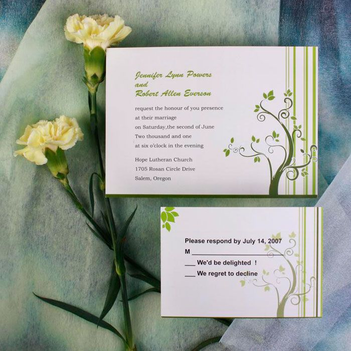 wildflower wedding invitation templates%0A Invitation Store Green Tree Wedding Invitations  Earth was perfectly  holding the balance  But then the card is asking to stay calm like flowers
