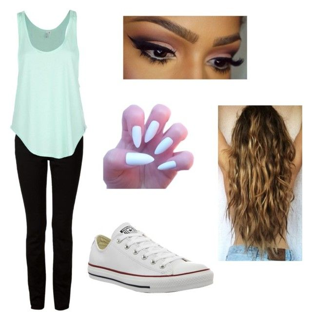 """""""Untitled #30"""" by unpredictablegirl16 ❤ liked on Polyvore featuring T By Alexander Wang, Rip Curl and Converse"""