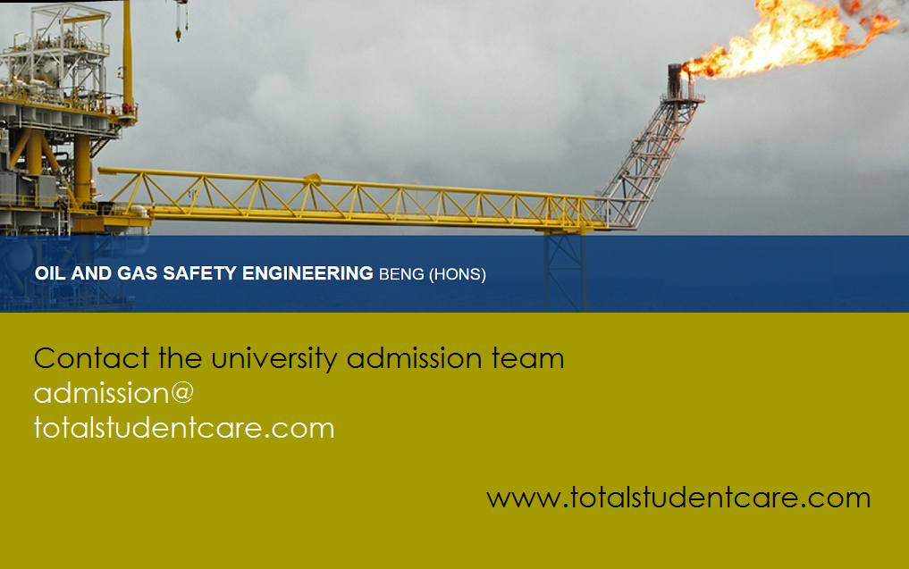 BEng (Hons) Oil & Gas Safety Engineering Study in the UK