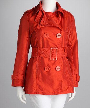 Orange Trench Coat