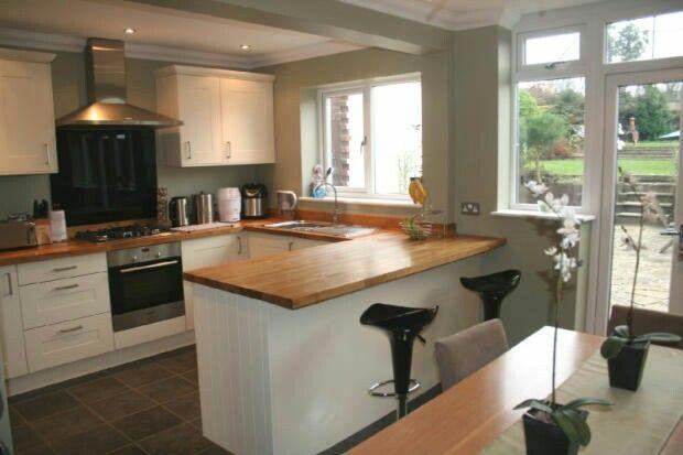 Kitchen with breakfast bar | Small kitchen diner, Kitchen ...