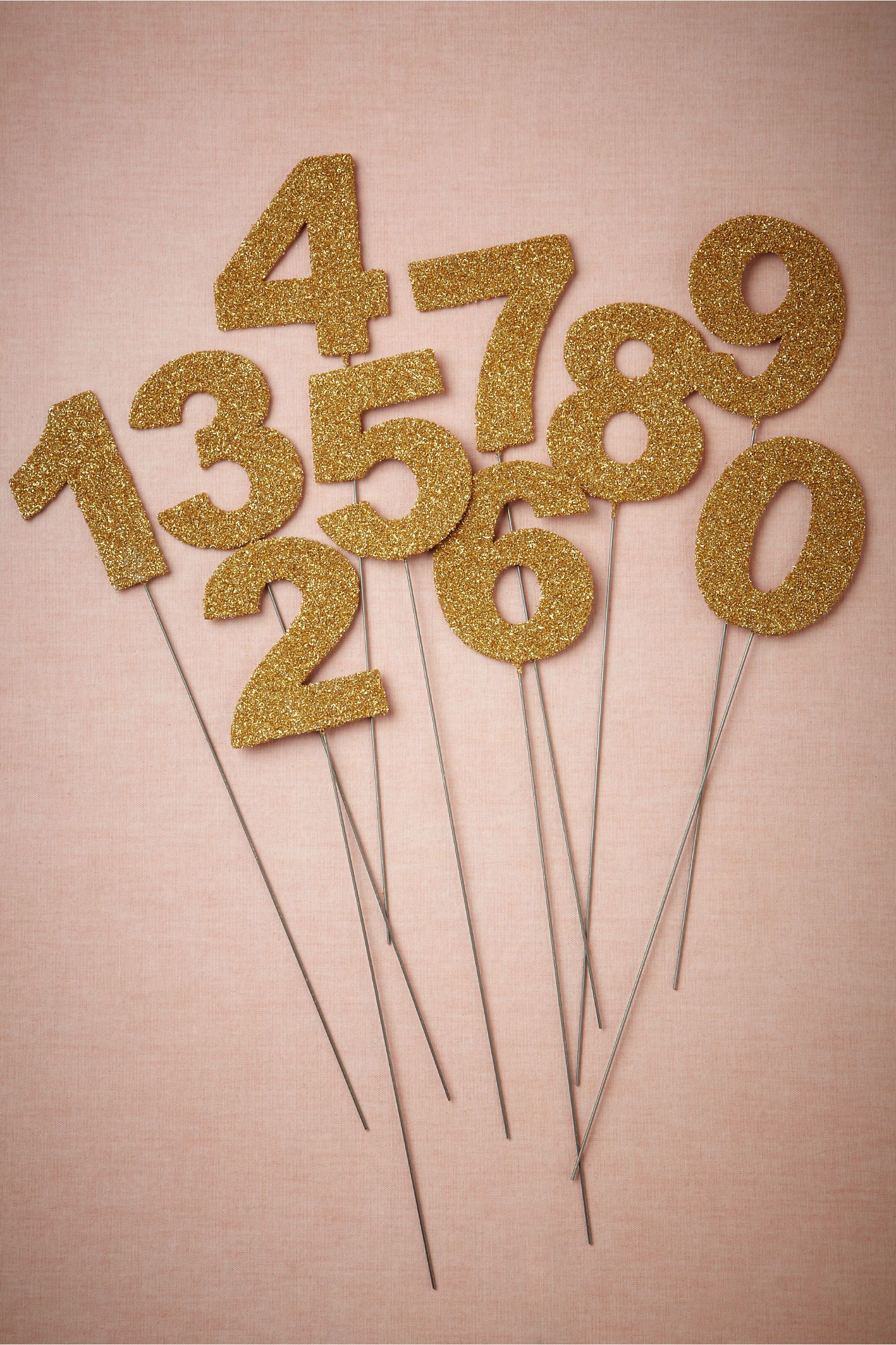 Could Do For Table Number At Wedding Diy Goldtone Stakes From Bhldn