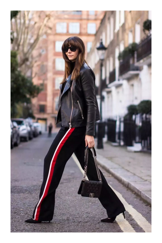 Outfit Pantalon Rojo Chandal Raya Al Lado Chica