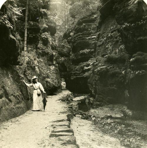 Allemagne Suisse Saxonne , Uttenwalder Grund ,1904