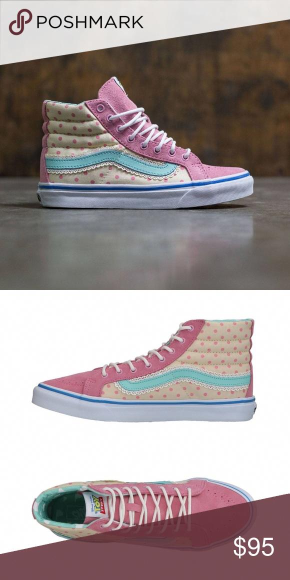 VANS x TOY STORY SK8-HI SLIM BO PEEP Pink Sneakers NEW VANS x TOY ... d4ac4410d