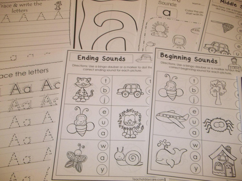 290 Printed Alphabet Worksheets Preschool Kindergarten