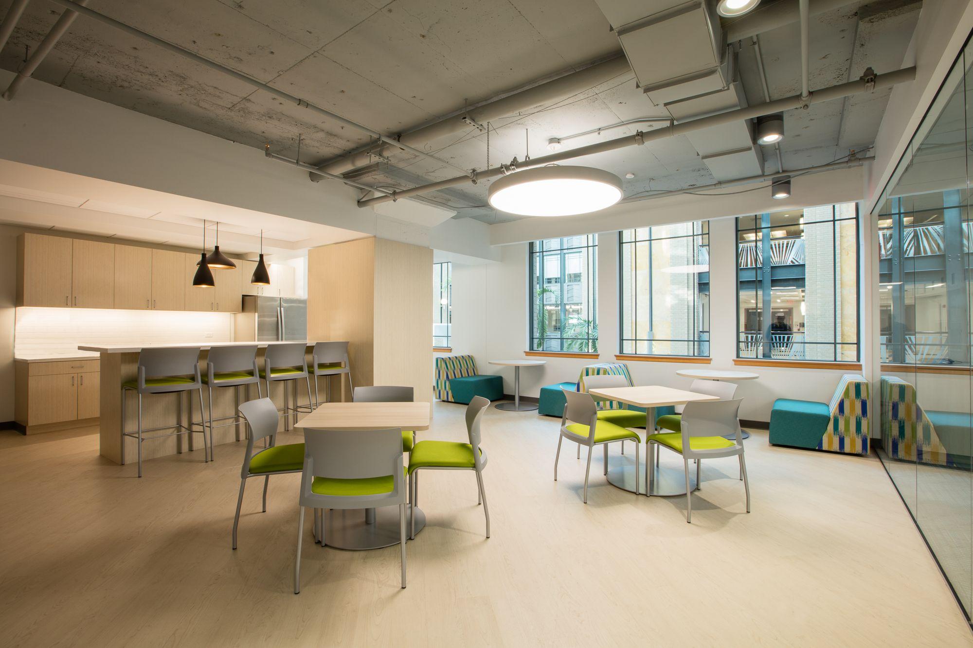 Dorm rooms at harvard harvard pilgrim institute office space design by fusion design
