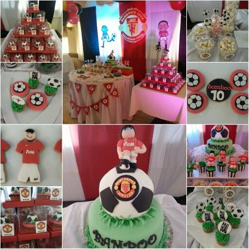 Manchester United Dessert Table Cupcake Cookies Cake Pops Dessert Table