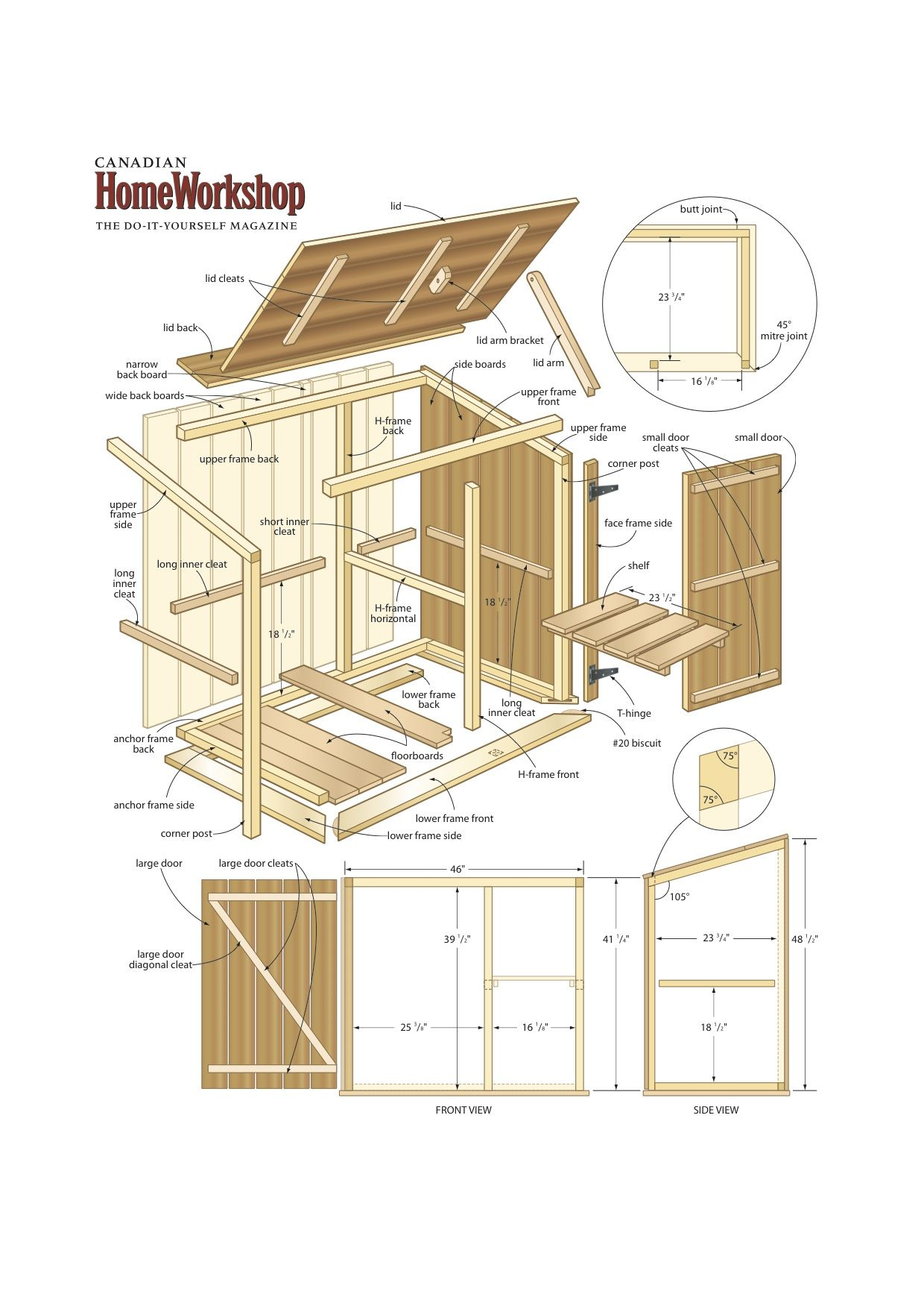 Hide Your Bins In A Handy Build It Yourself Trash Centre Get Free Plans From Canadian Home Workshop Magazine Storage Shed Plans Shed Plans Diy Shed