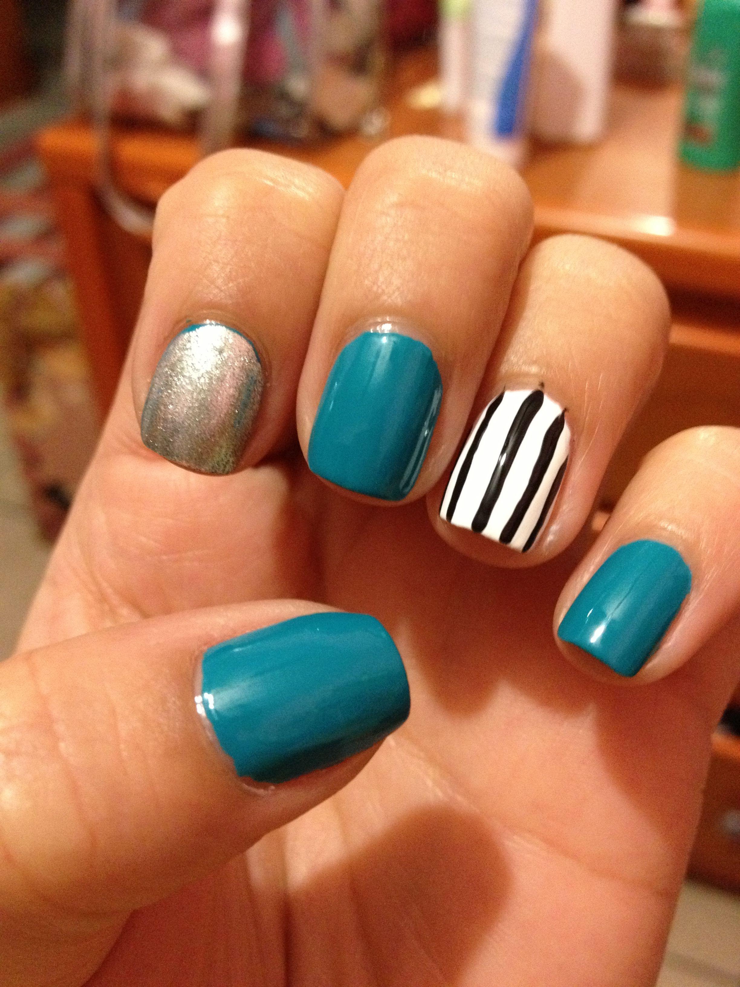 white blue | Nail art designs, Nail designs, Nail art
