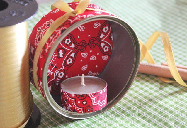 As latas viraram décor natalina! Faça também! | Blog do Elo7