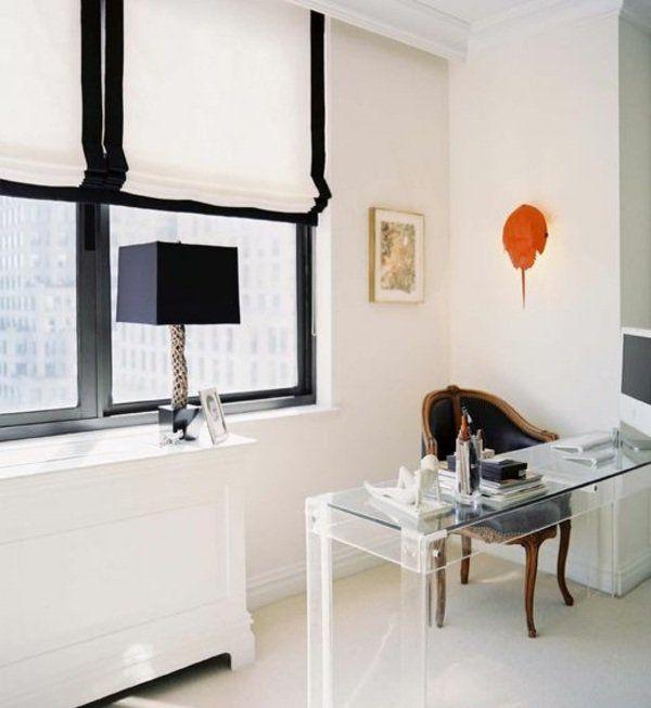 fenster sichtschutz schwarz weiß raffrollo Nähen Pinterest - wohnzimmer schwarz weis orange