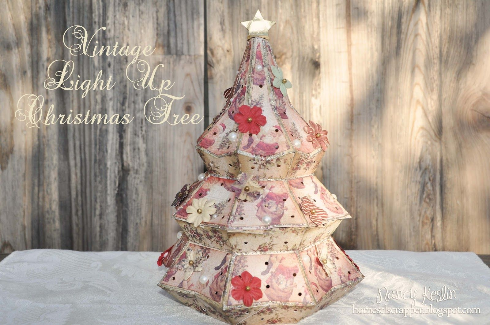 Vintage Paper Christmas Tree Paper christmas tree