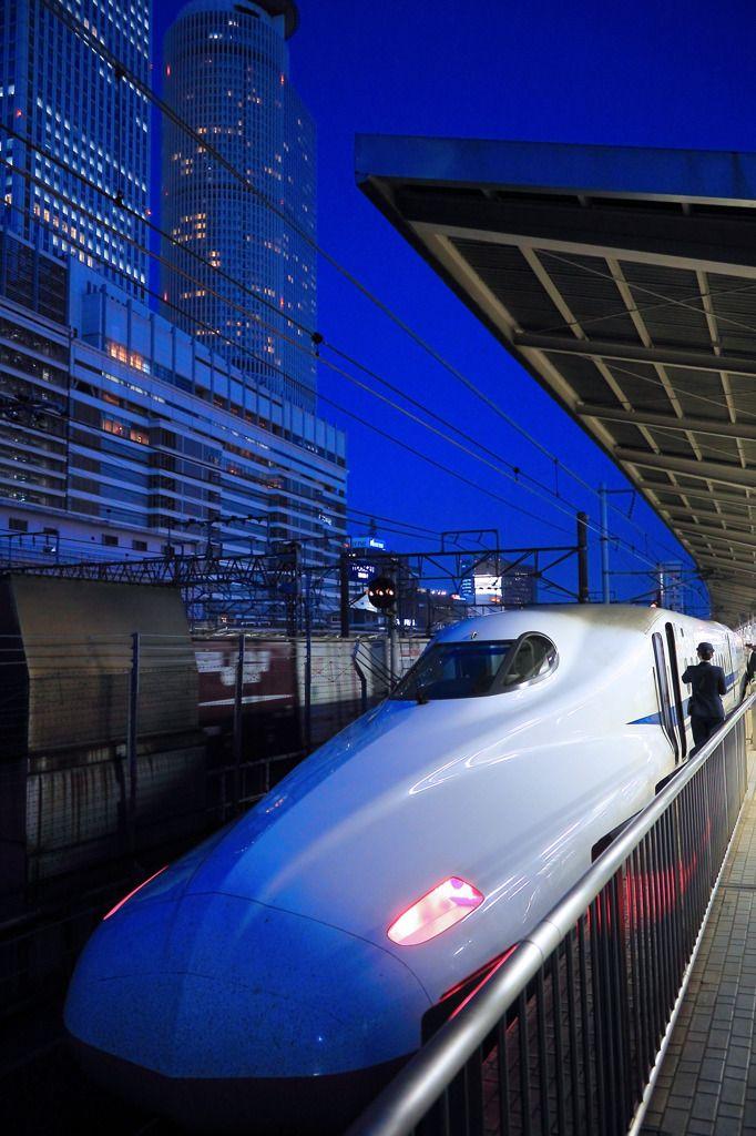 Shinkansen (bullet train) at Nagoya Station
