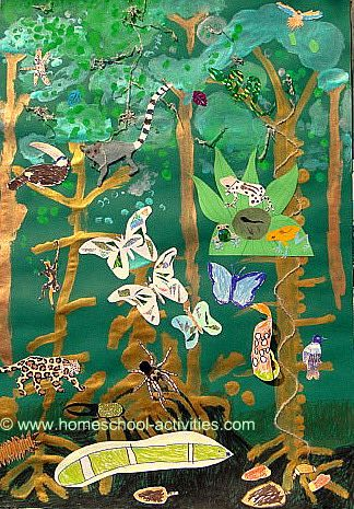 Homeschool Science Rainforest for Kids Activities Art