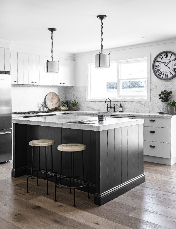 The V Groove Kitchen With Island Bench Modern Country Kitchens Country Kitchen Designs Modern Kitchen