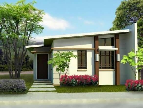 Small modern house plans flat roof kkk pinterest for Flat roof bungalow designs