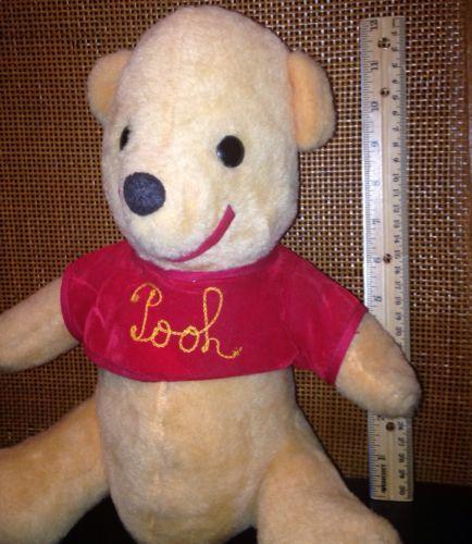 Disney Winnie The Pooh 12 Bear Plush Disneyland 1960 1970 Rare Stuffed Animal Disney Collectables Vintage Toys Bear Plush