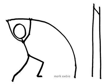 The Pole Vault Stickman Pole Bending Ready To Jump Pole Vault Track And Field Nike Quotes